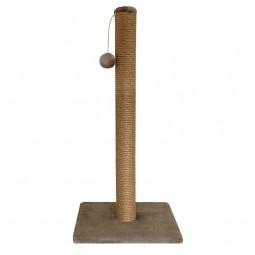 """Когтеточка """"Cтолбик №10"""" длинная с игрушкой однотонная, 360*360*760мм"""