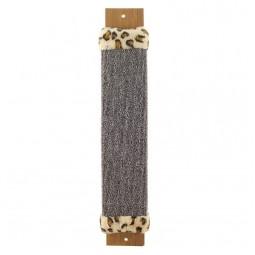 Когтеточка из ковролина №1 широкая с оторочкой из меха, 110*30*530мм