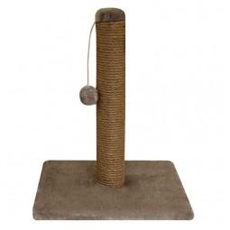 """Когтеточка """"Столбик № 2"""" с игрушкой однотонная, 360*360*460мм"""