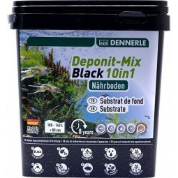 Субстрат питательный Dennerle Deponitmix Professional Black 10in1, 2,4кг