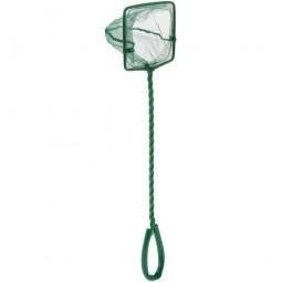 Аквариумный сачок Barbus с зелёной сеткой 7,5*6*25см